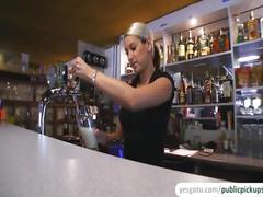 Super gorgeous lenka gets fucked in pub and receives sticky facial