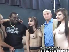 Porno legend cytherea gives blowjob to fan!