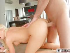 All internal horny blonde gets fucked hard doggystyle
