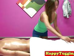 She gives a happy ending at the massage parlor