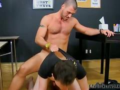Hardcore pumping in school with damien lefebvre and parker wright