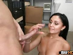 Amateur brunette ariana marie's first porn audition 2.4