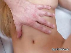 Hot redhead mary gets tricked by fake agent
