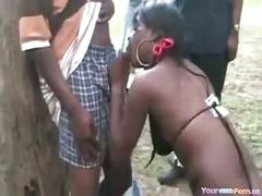 Massive ebony groupsex party