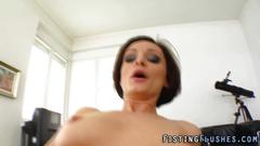 Pussy fisted lesbian rubs her nasty friend