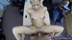 Black guy pawns her naughty gfs pussy n fucked to earn money
