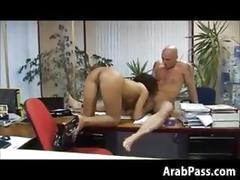 blowjob, hardcore, fucking, interracial, sucking, arab, brunette, office, nasty, more