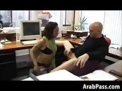 blowjob, hardcore, fucking, interracial, sucking, arab, brunette, office, nasty, more