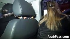 Arabic whore in an interracial threeway