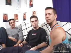 Allan, cedrik and johnny: jock insertion threesome