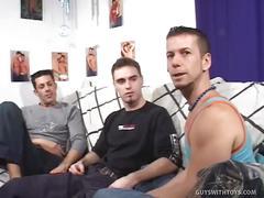 Allan, cedrik and johnny: jock insertion threesome