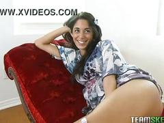 Cute latina gia steel stroking and sucking cock like a pro