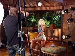 Curvy blonde does a photoshoot @ season 1 ep. 30