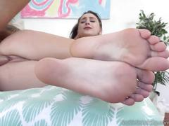 Ashley adams begs for a load all over her perfect feet