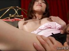 Slutty asian beauty pussy tongued and hard fucked