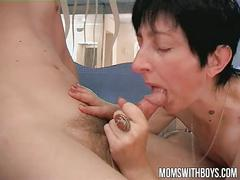 Young boy in the spa got lucky fucking an oldie