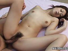 Tiny titted ayu teasing blowjob and memorable fuck
