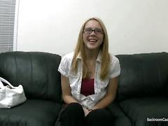 Cute melissa inseminated during job interview