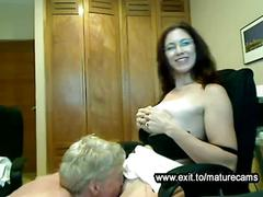 Housewife liza with toyboy on home webcam