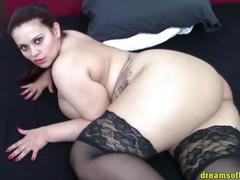 Bbw pawg milf samanthas bigbutt black stockings tease (hd)