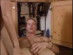 Dirty whore pounded in the kitchen
