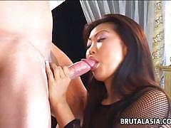 Asian whore lucy lee sucks and fuck a white guy