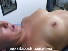 College girl's clit and nipple piercings part 2