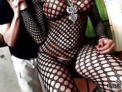 shemale, latina, fishnet, blowjob, tranny, brunette, bodystocking, paint, shemale blowjob, painting, pink'o shemales, camilla jolie