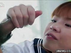 Asian schoolgirl takes multiple cocks