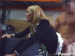 Mature lady banged at pawn shop