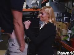 Mature lady banged at pawn shop