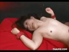 Rough asian creampie