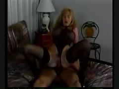Blonde in sexy lingerie fucked