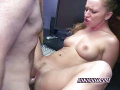 Petite leigh is taking some dick in the office