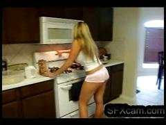 "Very sexy babe is playing with her ""cake"". more of her at sfxcam.com"