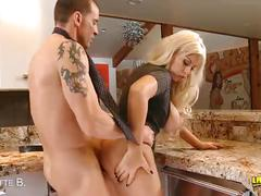 Blonde bridgette b. gets titty fucked