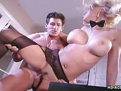 Busty blonde babe kelly loves hard cock to ride.