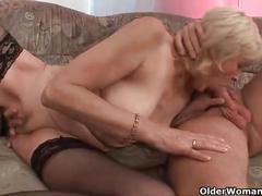 stockings, cumshot, facial, milf, mature, old, granny, older, cougar, grandma, gilf, grandmother