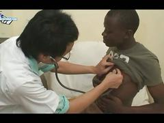 Twinky asian doctor for ebony patient