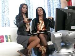 brunettes, lesbians, stockings
