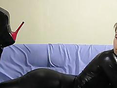 Shiny leggings & boots joi