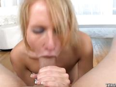 Aria austin sucking on a huge cock