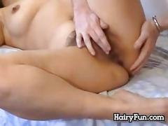 Hairy russian woman wants him to be hard