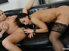 Stunning babes nikita von james and lisa ann play