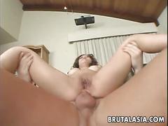 Asian kaiya lynn deep anal fuck