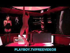 Hot playboy models strip at the club