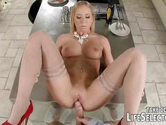 cowgirl, blowjob, blonde, wife, pov, missionary, interactive, hardcore, doggy