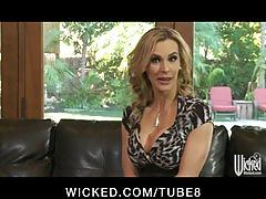 Horny bigtit blonde milf slut fucked hard by big dick to orgasm