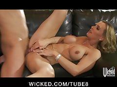 Horny bigtit blonde milf slut fucked hard by big dick to orgasm