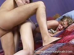 Homegrownhairybush's barely legal madison takes hard cock like a champ